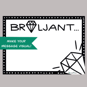 Brilant Make Your Message Visual Kaart Shop