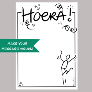 Hoera Make Your Message Visual Kaart Shop
