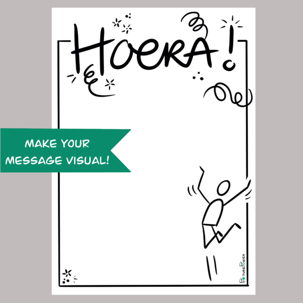Hoera Make Your Message Visual Kaart Shop