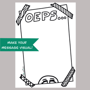 Oeps Make Your Message Visual Kaart Shop