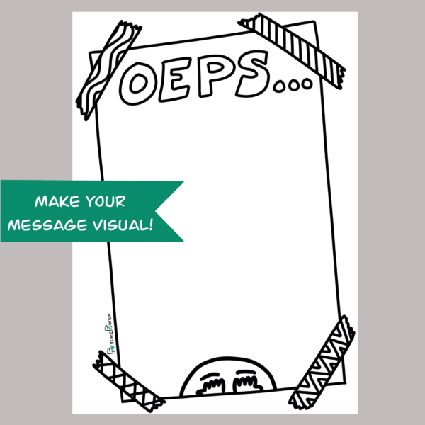 Oeps Make Your Message Visual Kaart Shop