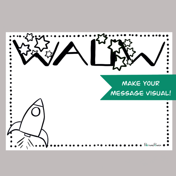 Wauw Make Your Message Visual Kaart Shop