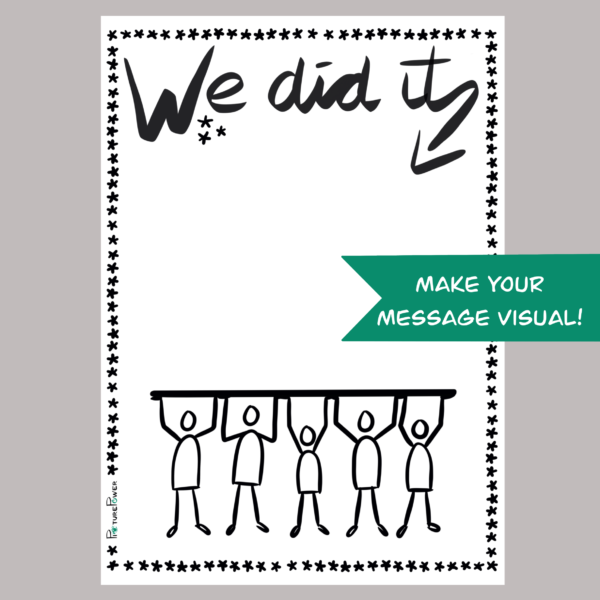 We Did It Make Your Message Visual Kaart Shop