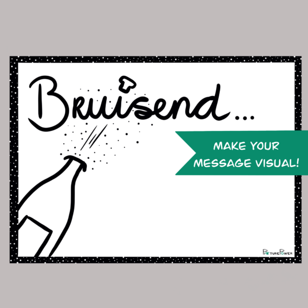Bruisend Make Your Message Visual Kaart Shop