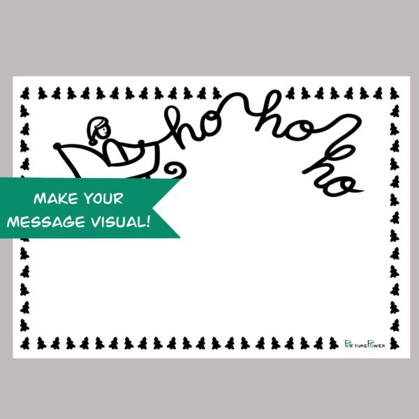Ho Ho Ho Make Your Message Visual Kaart Shop