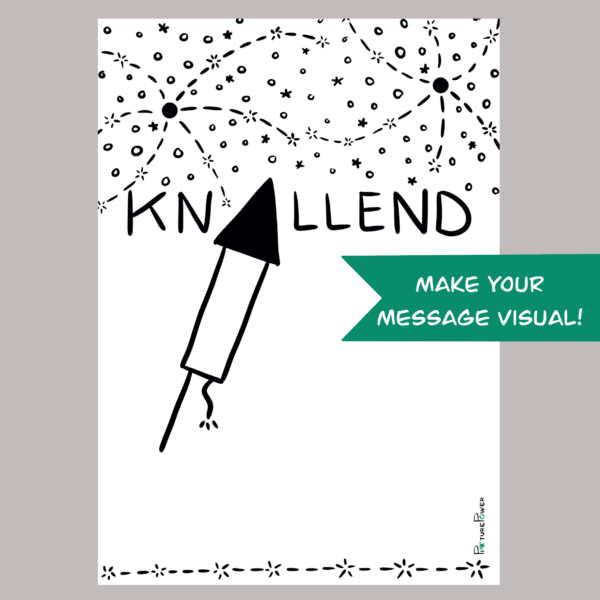 Knallend Make Your Message Visual Kaart Shop