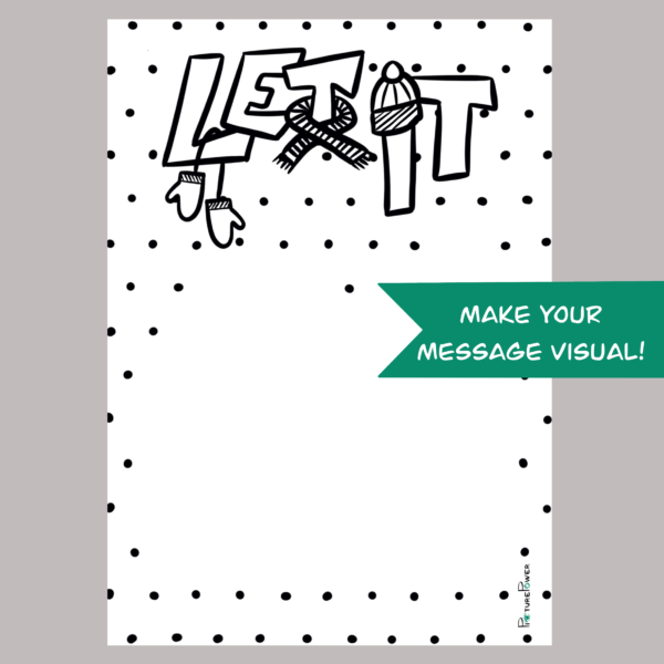 Let It Make Your Message Visual Kaart Shop