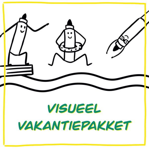 visueel vakantieboek vakantiepakket zakelijk tekenen